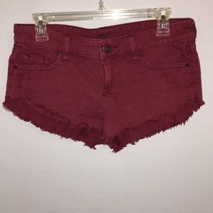 BDG low rise red shorts!